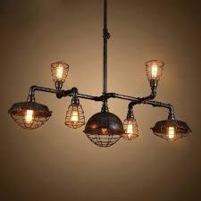 black industrial chandelier industrial chandelier in black finish with metal cage frame 7 lights width home
