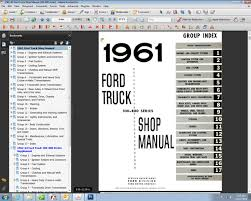 fordmanuals com 1961 63 ford truck shop manual 100 800 (ebook) 1961 ford thunderbird wiring diagram at 1961 Ford Wiring Diagram