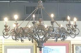 antique wrought iron chandelier vintage black