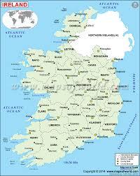 political map of ireland  ireland counties map