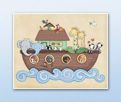 noah s ark nursery art print jungle
