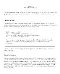 Sample Formal Business Report Formal Report Template Short Formal