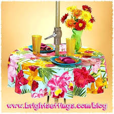 good round patio tablecloth with umbrella hole or tablecloth with an umbrella hole in any fabric round patio tablecloth with umbrella hole