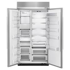 refrigerator 42 inches wide. kitchenaid 25.5 cubic feet 42-inch wide built in side by refrigerator with printshield finish kbsn602ess. sale. 42 inches