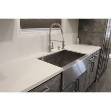 stainless steel farmhouse sink. Perfect Sink 36 Inch Stainless Steel Flat Front Farmhouse Apron Kitchen Sink 5050  Double Bowl To
