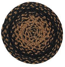 ebony black and tan braided trivet