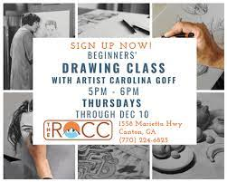 Beginner's Drawing Class with Professional Artist Carolina Goff Forsyth  County News
