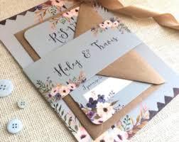wedding invitations & paper etsy uk Wedding Invitation Charms Uk floral bleu wedding invitation with matching rsvp sample Unique Wedding Invitations UK