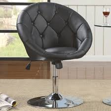 round chairs for bedrooms. Dining Chairs And Bar Stools Contemporary Round Tufted Black Swivel Chair For Bedrooms