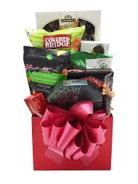 jolly red gift basket