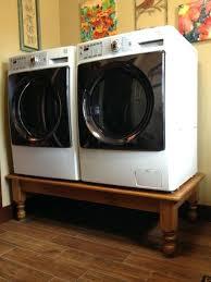 washer dryer pedestal diy washer dryer on a coffee table easier than washer dryer pedestal diy