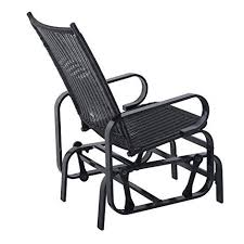 rocker patio chairs. outsunny rattan glider rocking chair single seater rocker seat garden swing patio furniture wicker aluminum frame - 841-172 and outdoor chairs