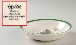 Spode Christmas Tree (Green Trim) Coupe Cereal Bowl