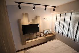 Master Bedroom Feature Wall Scandinavian Project Compassvale Crescent Master Bedroom