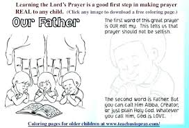 The Lords Prayer Coloring Pages Our Father Colouring Page School