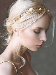 Wedding Hairstyle 81 Amazing Yean Wedding Hair Vine Headband Gold Leaf Crown Tiara Accessories
