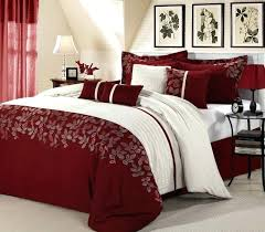 red king size comforter sets space living 8 piece set and gold