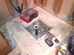 shower drain in concrete slab shower drain concrete slab issue moving bathtub drain concrete slab