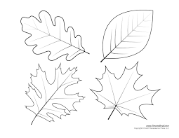 Leaf Template Leaf Templates Leaf Coloring Pages for Kids Leaf Printables 1