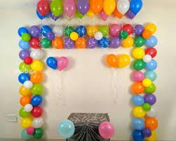 birthday simple balloon decorations in