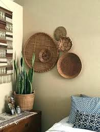 wall hanging baskets homey inspiration wall