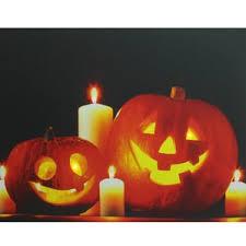 halloween lighting. halloween jackou0027lanterns battery operated led graphic art on canvas lighting