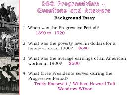 the progressive era chapter nine ppt dbq progressivism questions and answers