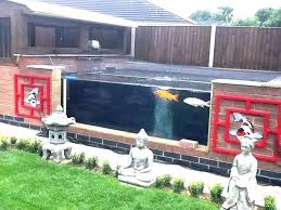 above ground fish pond designs with viewing window round in winter create your own small garden