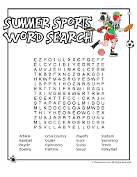 Summer sport word search | Literacy | Pinterest | Word search ...