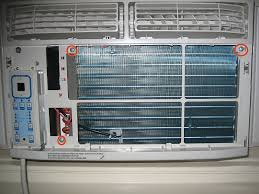 silencing frigidaire mini in window compact room air conditioner location