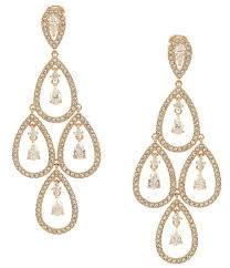 vintagerhcom champagne gold chandelier earrings for wedding art deco bridal vintagerhcom trina tree pear drop linear