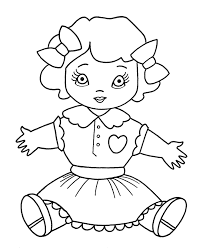 Small Picture Christmas Toys Coloring Pages Girl Dolly Coloring Sheet