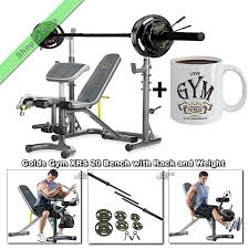 Xrs 20 Exercise Chart Details About Gold Gym Xrs20 Olympic Weight Bench Press Fid With Rack 110lb Weights Plus Mug