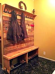 Coat Rack Cabinet Mud Room Coat Rack And Bench Entryway Storage Cushioned Bench Shoe 49