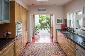 image of modern kitchen rugs floor