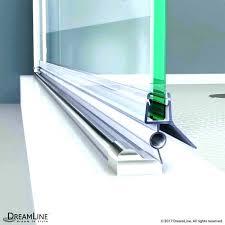shower door sweep clear bottom vinyl cut length glass seal strip