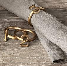 View in gallery Metallic number napkin rings