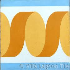 Ribbon Border Cement Tiles Villa Lagoon Tile