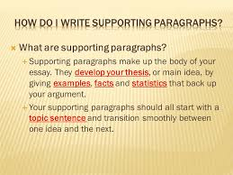 writing introductory paragraphs ppt  how do i write supporting paragraphs