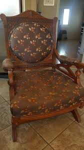 antique platform rocking chair 1 of 4 see more