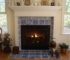 ceramic tile fireplace design