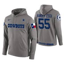Esch Gray Cowboys Wordmark Hoodie Leighton Circuit 55 Vander