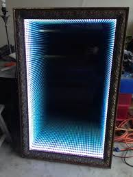 infinity mirror table. how to make an infinity led mirror table