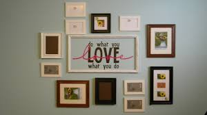 modern picture frames collage. How To Arrange Photos On Pale Pastel Blue Walls Living Room Modern And Simple Picture Frames Collage .