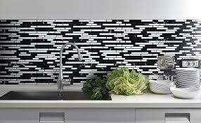 black white marble glass backsplash