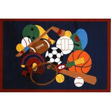 3 x 5 small sports america multi color area rug fun time