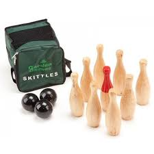 Game Of Skittles Wooden Buy Outdoor Wooden Skittles Game Gaga100 Garden Games 50