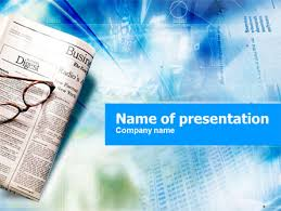 Morning Business Newspaper Powerpoint Template Backgrounds 01154