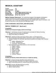 Resume Examples For Medical Assistant Gorgeous Objectives For A Medical Assistant Resume Samples Of Medical