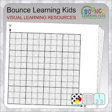 Graph Paper Xy Axis With No Scale 1st Quadrant Only